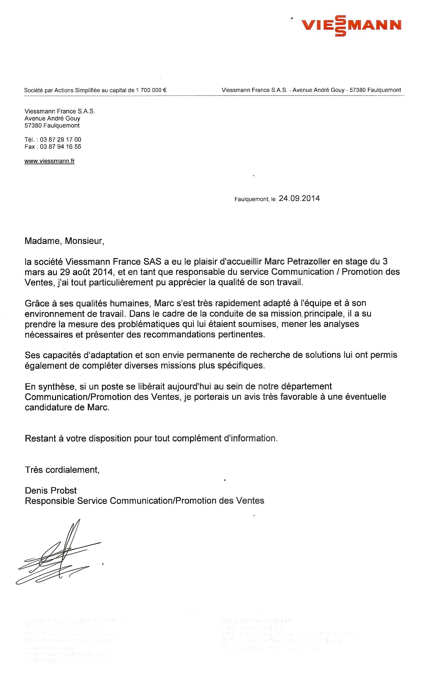 lettre de recommandation qualites humaines