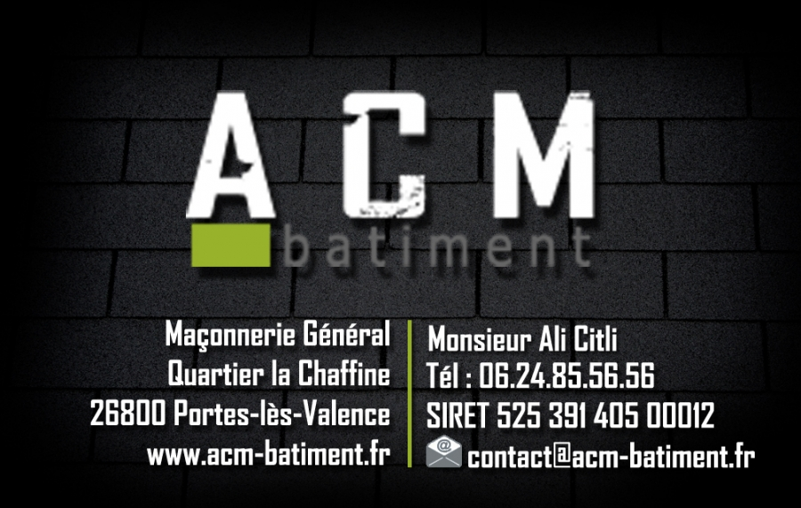 carte de visite acm batiment - cv