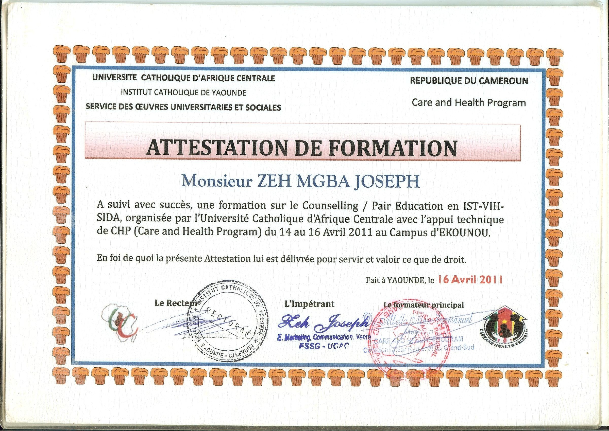 diplome de formation en counselling pair educateur en ist