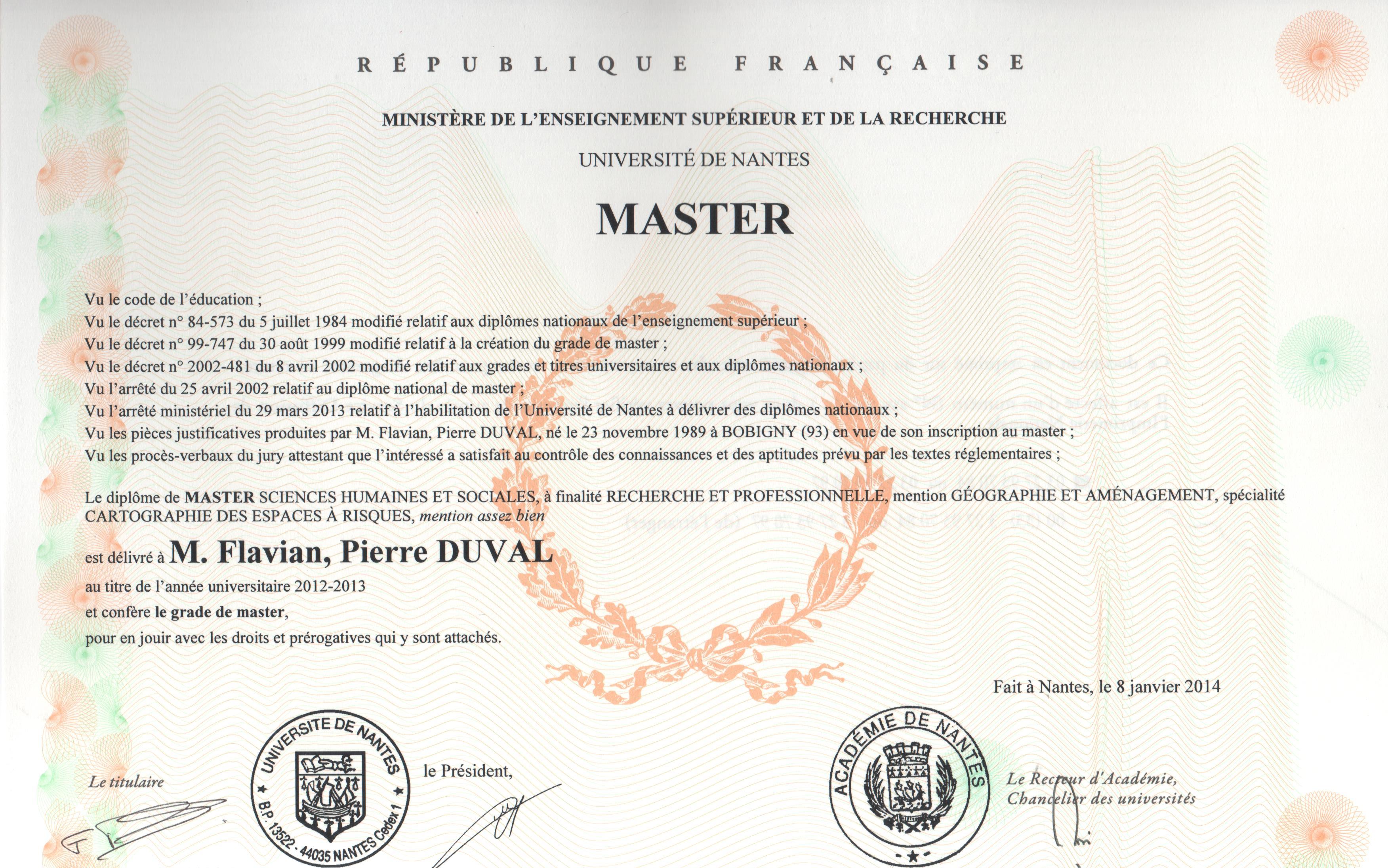flavian duval - cv