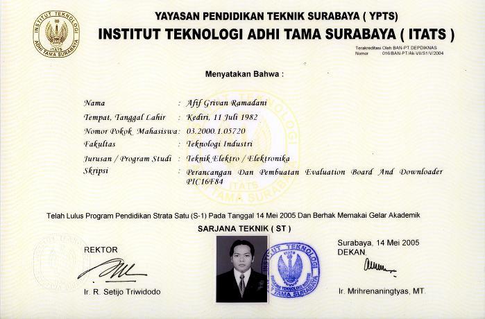 Ijazah Sarjana Teknik Resume Afif Ramadani