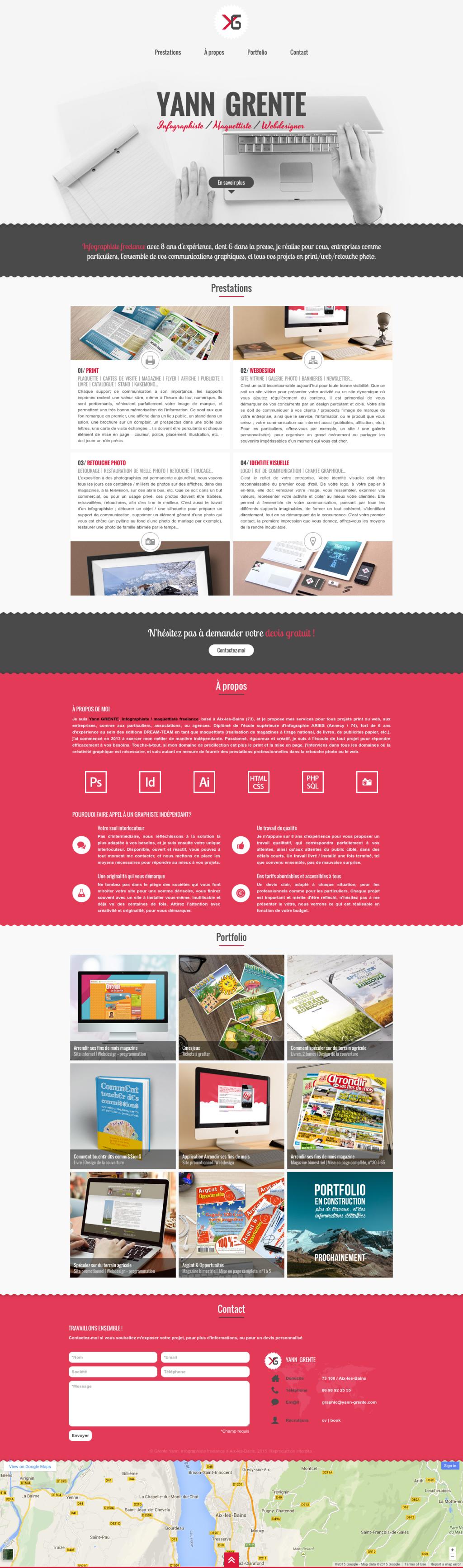 yann grente - cv   maquettiste    webdesigner