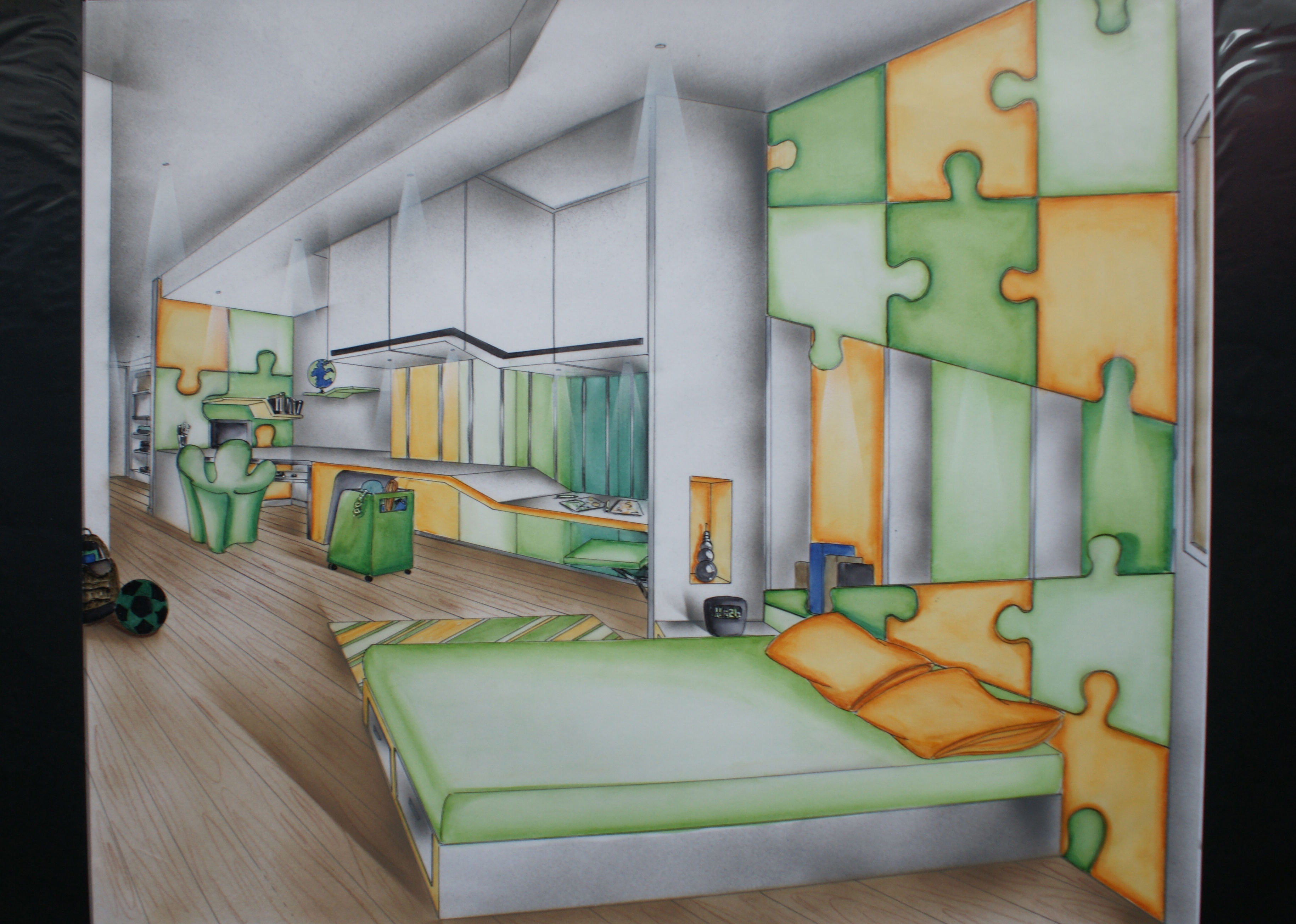 Beautiful Dessin Chambre Perspective Pictures - Seiunkel.us ...