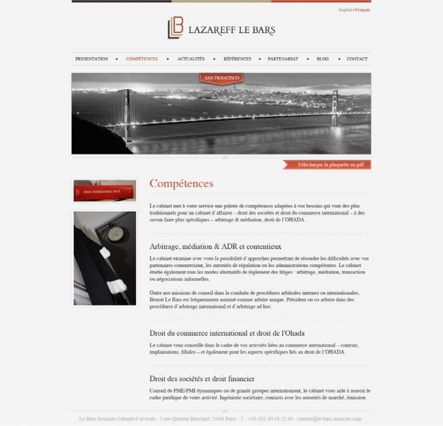 maquette du site d u0026 39 un avocat - cv