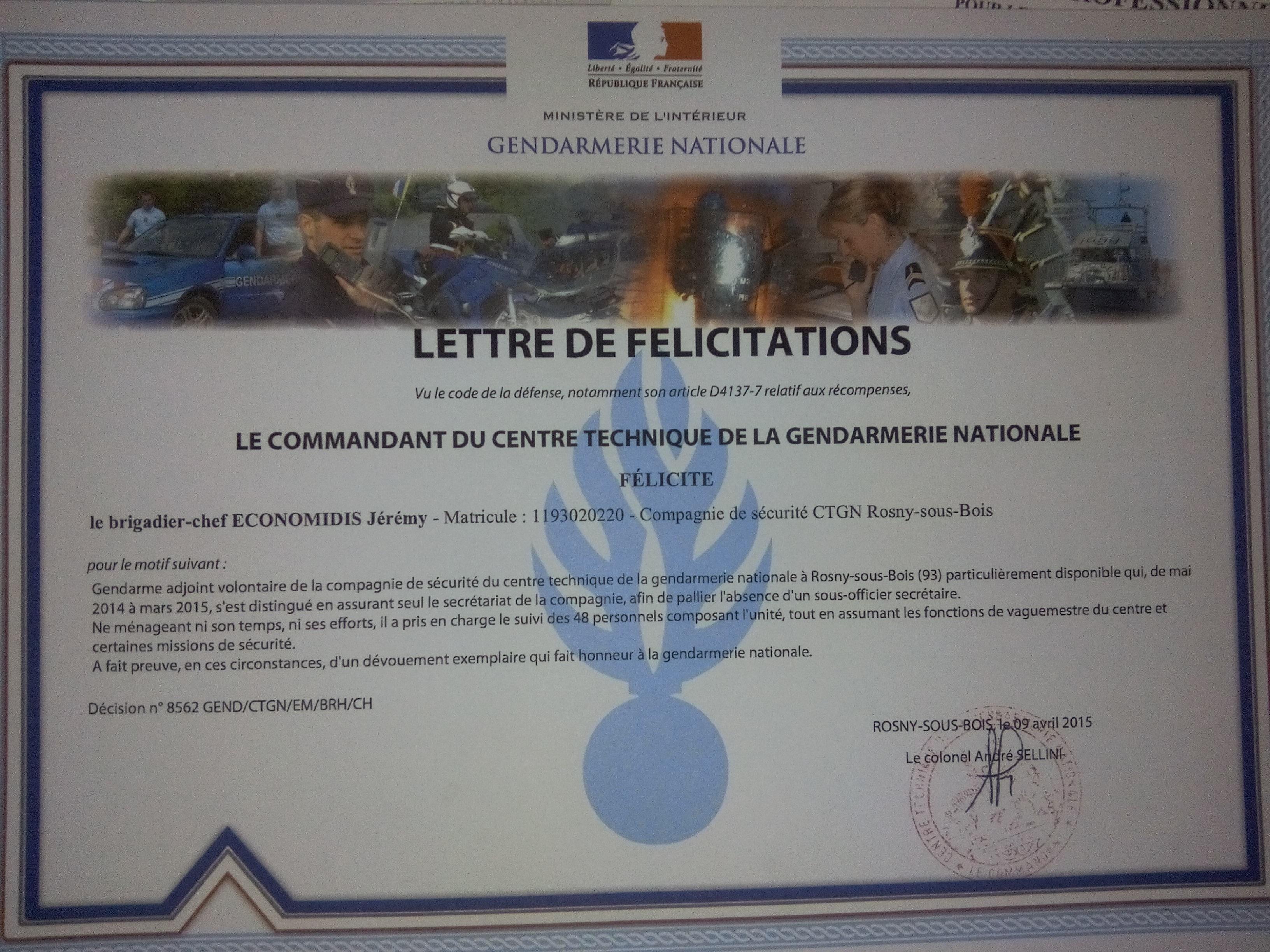 j u00e9r u00e9my economidis - cv - gendarme adjoint volontaire