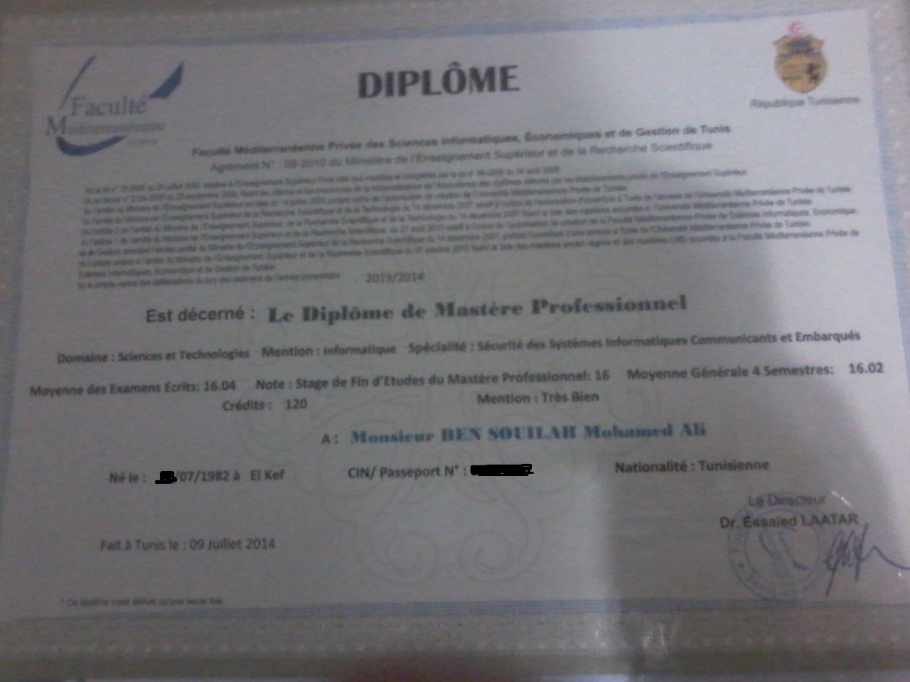 mohamed ali bensouilah - resume
