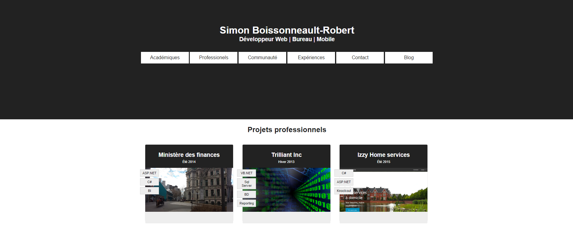 simon boissonneault robert - cv