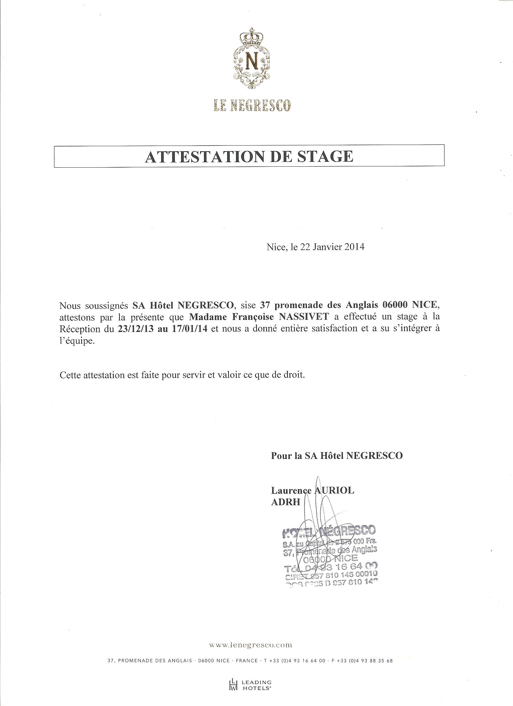 attestation de stage 001 - cv