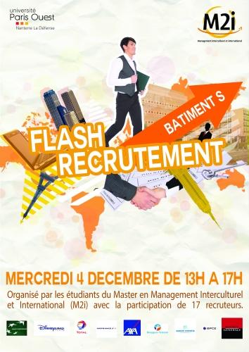 affiche flash recrutement - cv